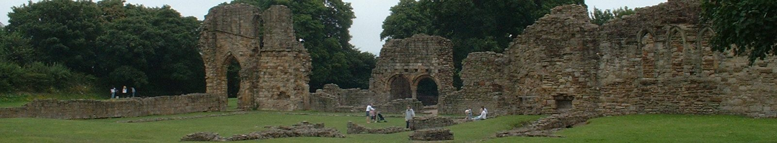 Basingwerk Abbey: ruins of the church and chapter house