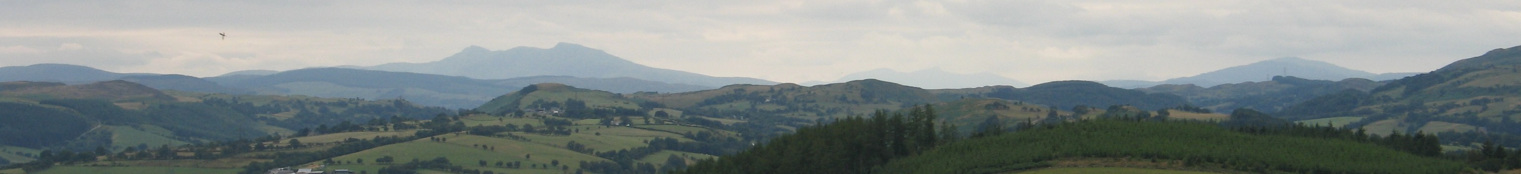 Looking down the Vale of Clwyd
