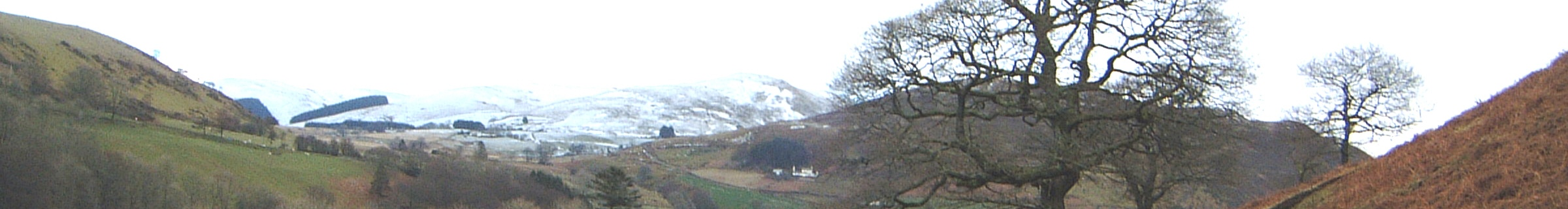 Snow on the hills above Cwmystwyth