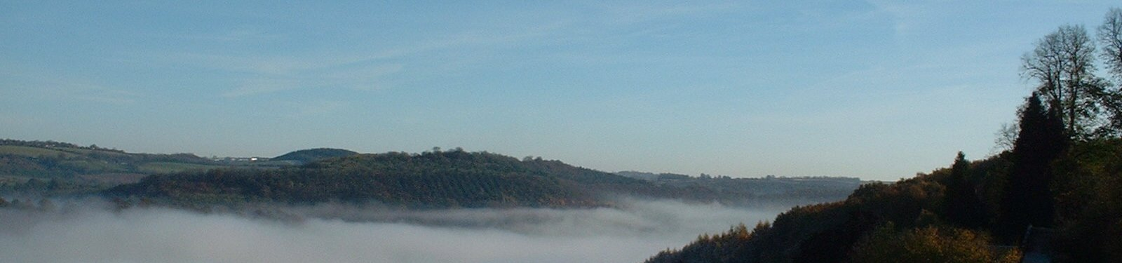 Mist rising in the Wye Valley