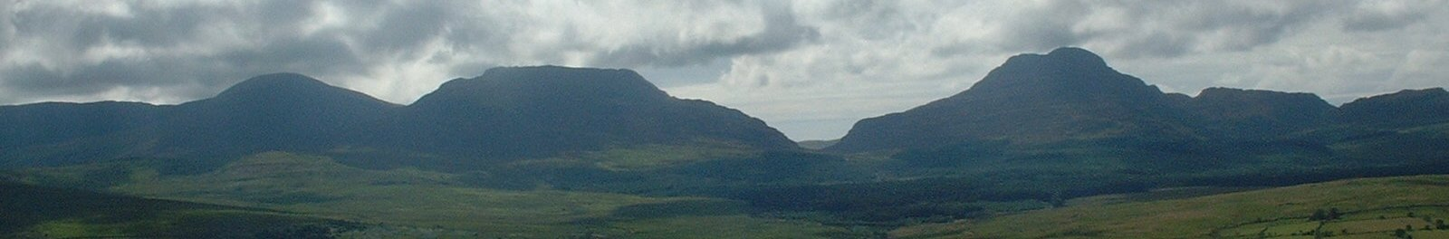 The mountains west of Trawsfynydd