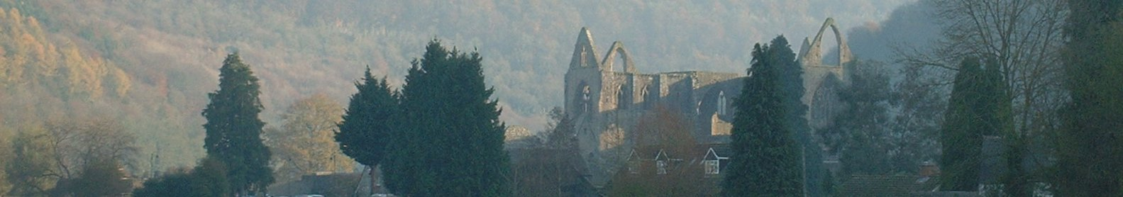 Tintern from the Wye in autumn