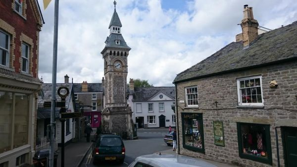 The centre of Hay-on-Wye
