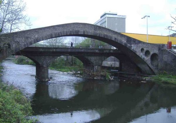 The old bridge in Pontypridd