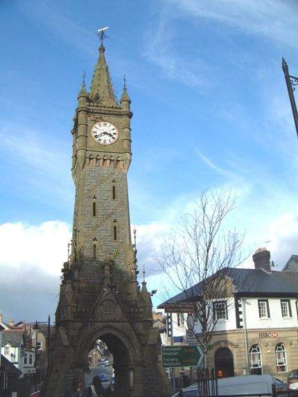 The clocktower in Machynlleth
