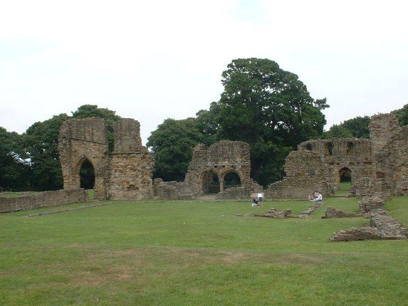 Basingwerk Abbey: the church and cloister