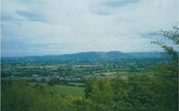 The view over Llanymynech