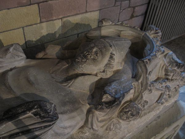 The tomb of a bishop in St Asaph Cathedral